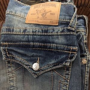 Men's true religion jeans slim fit tailored